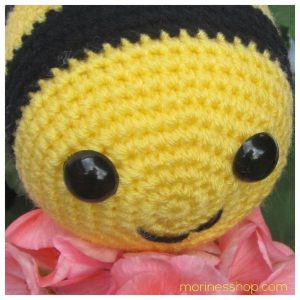 Top front view of heimlich the bee