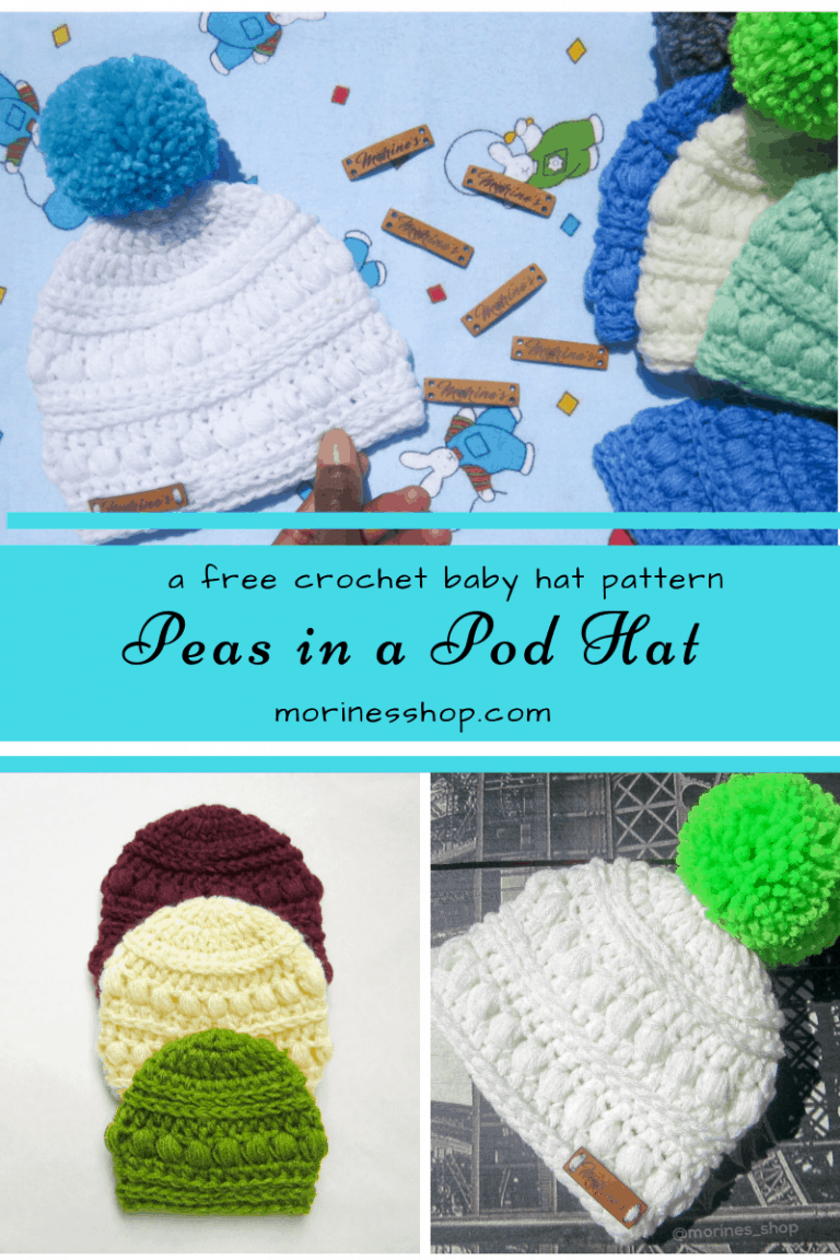 Peas in a pod hat- A free crochet baby hat pattern by Morine's Shop