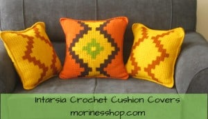 Intarsia Crochet Cushion Covers- Pattern by Morine's Shop