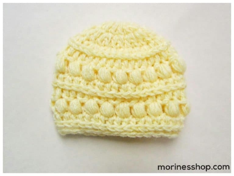 crochet baby hat for 3-5 pound preemie