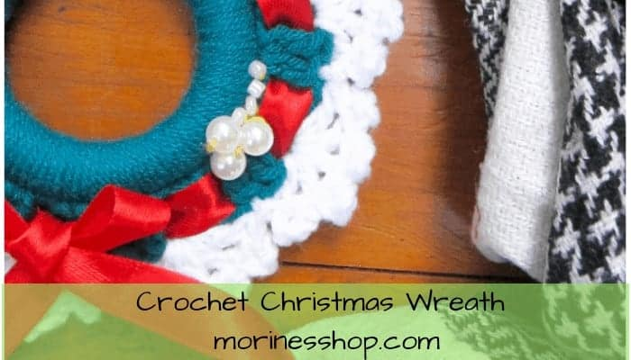 Crochet Christmas Wreath- A Free Pattern by Morine's Shop