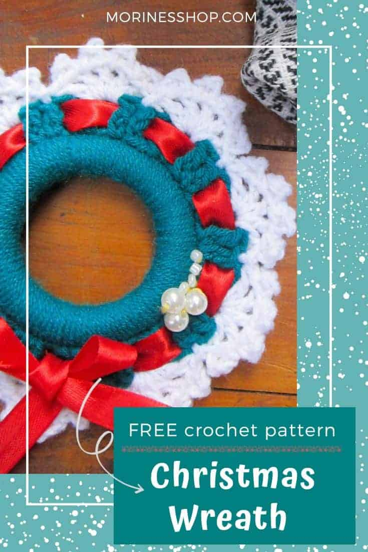 This is a fast, easy to follow crochet christmas wreath pattern. It's also small and light enough to make a lovely ornament for a christmas tree.