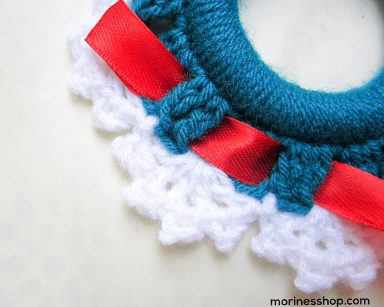 how to insert the ribbon in round 2 stitches