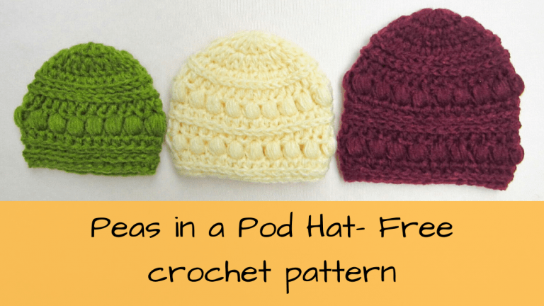 Three sizes of the peas in a pod hat