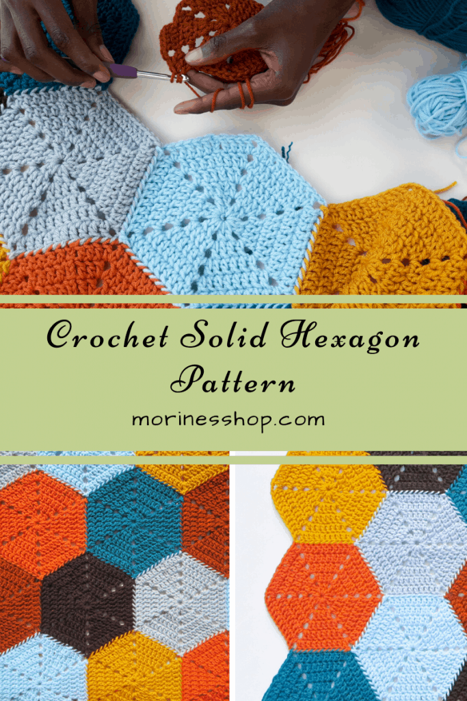 Crochet solid hexagon pattern- Morine's Shop
