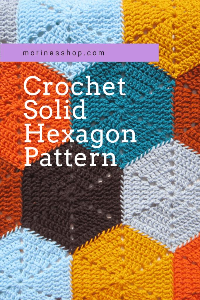Crochet solid hexagon pattern by Morine's Shop
