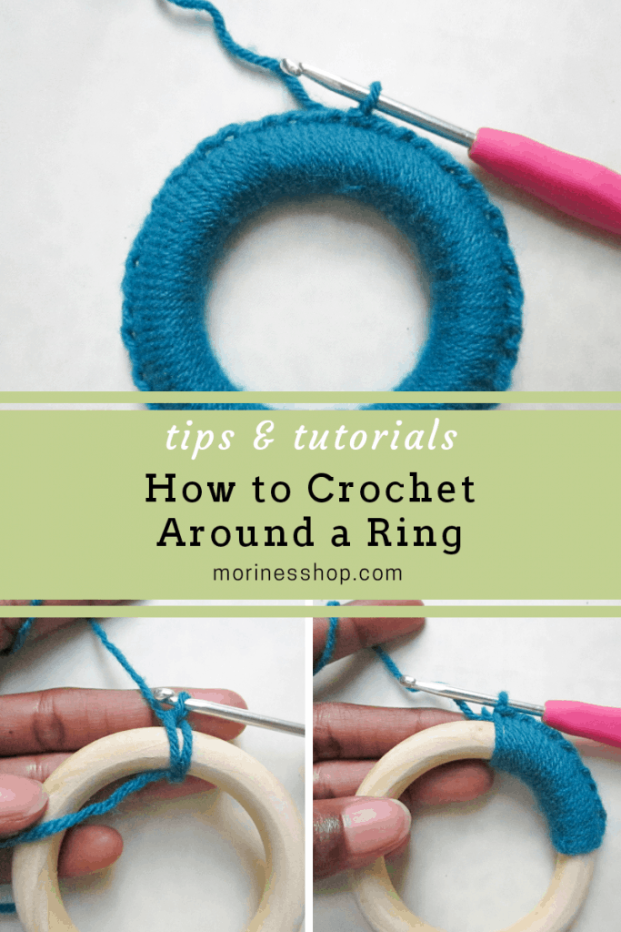 How to crochet around a ring. This is a step-by-step tutorial on how to crochet around a ring. It works for rings of and size and/or thickness.