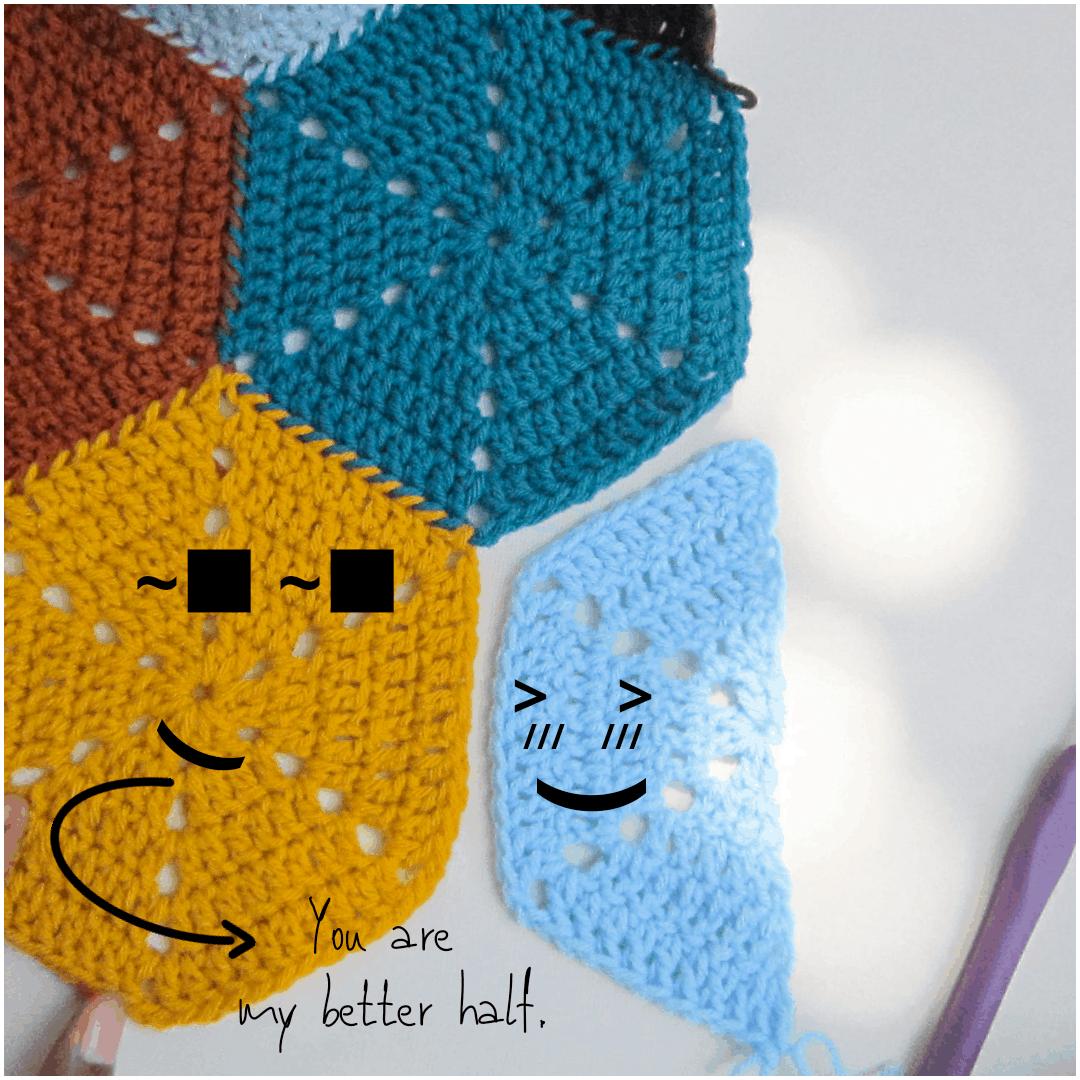The relationship between a hexagon and a half hexagon