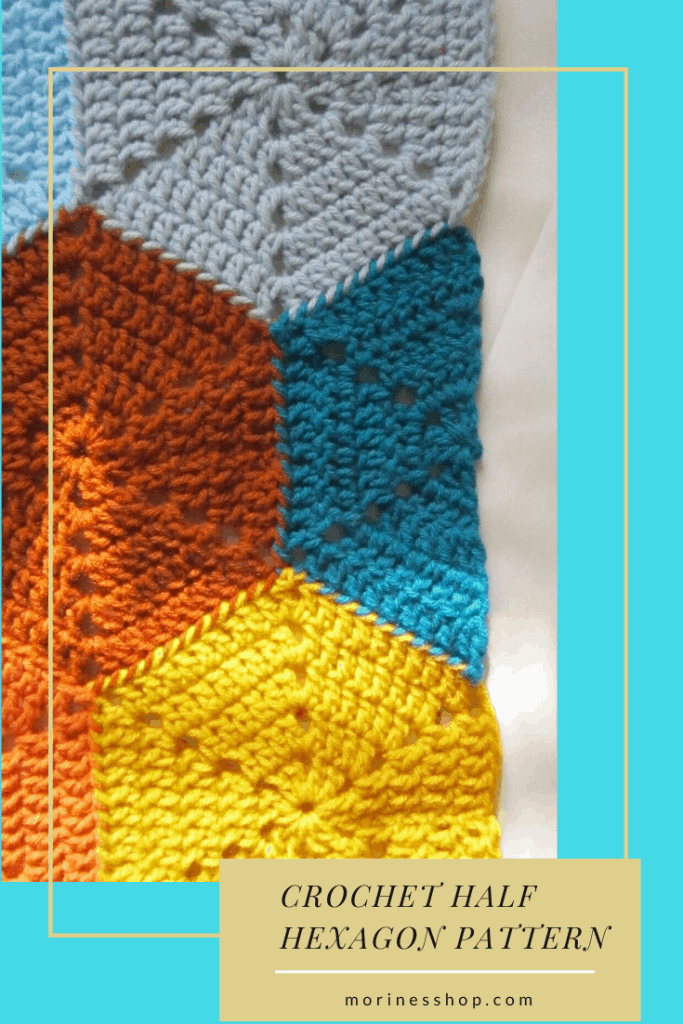 How to crochet a half hexagon. Learn how to crochet a half hexagon with these simple, easy to follow instructions with picture tutorials. Applicable to all yarn weights and hook sizes.