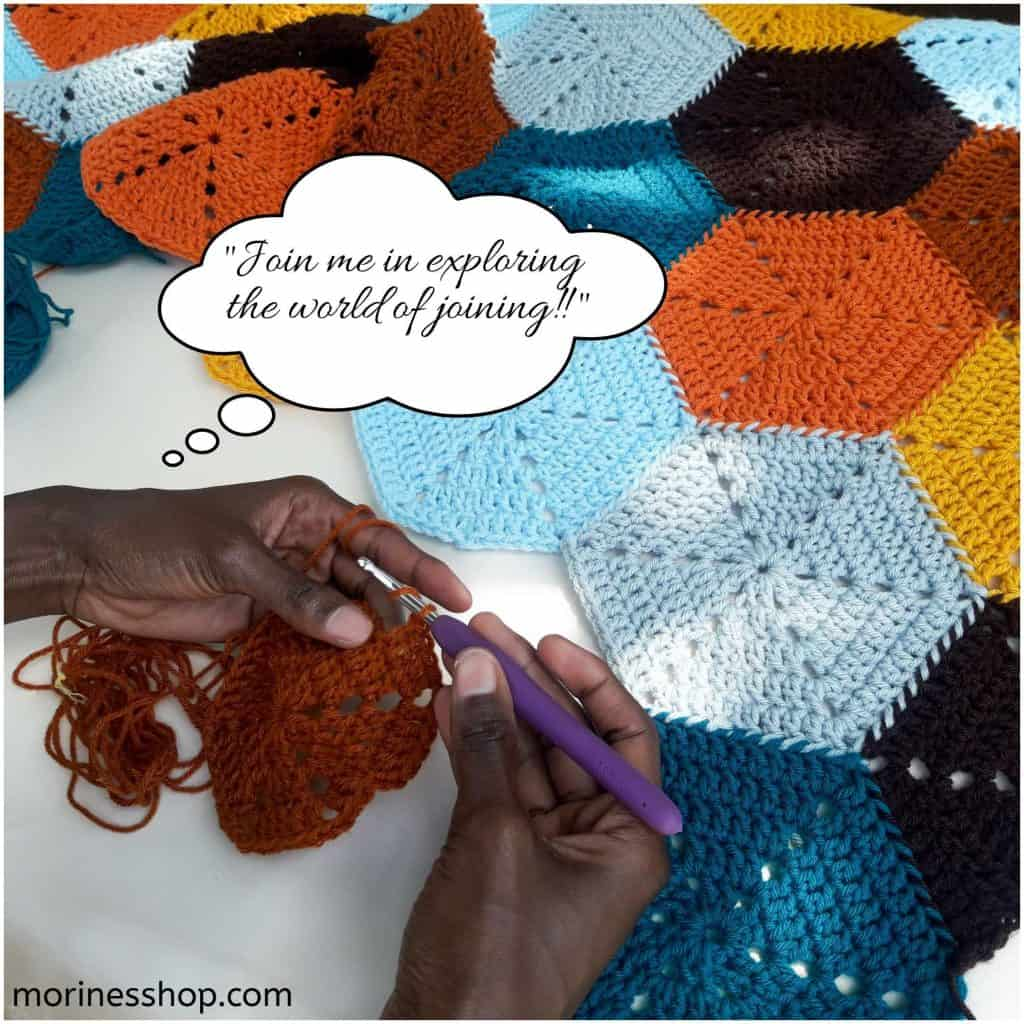 Join me in the world of joining solid hexagons as you go at Morine's Shop Blog