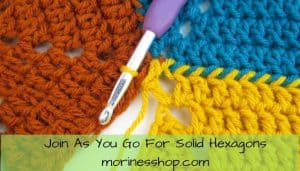 Learn how to crochet join hexagons as you go using the pull through loop method with these simple, easy to follow instructions with picture tutorials #CrochetHexagon #JoinAsYouGo #CrochetJoin #CrochetTutorial #CrochetTips