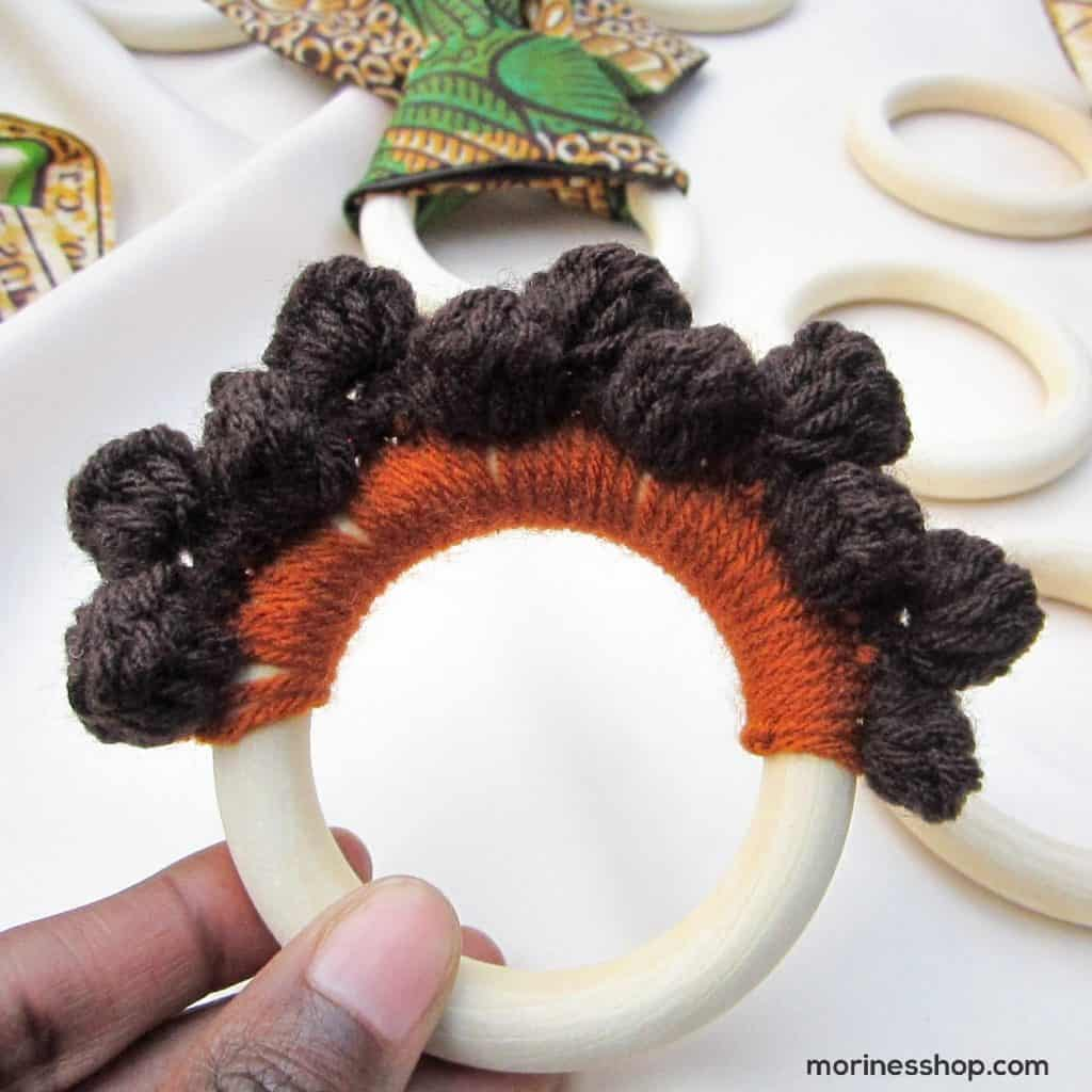 CRochet bantu knots teether