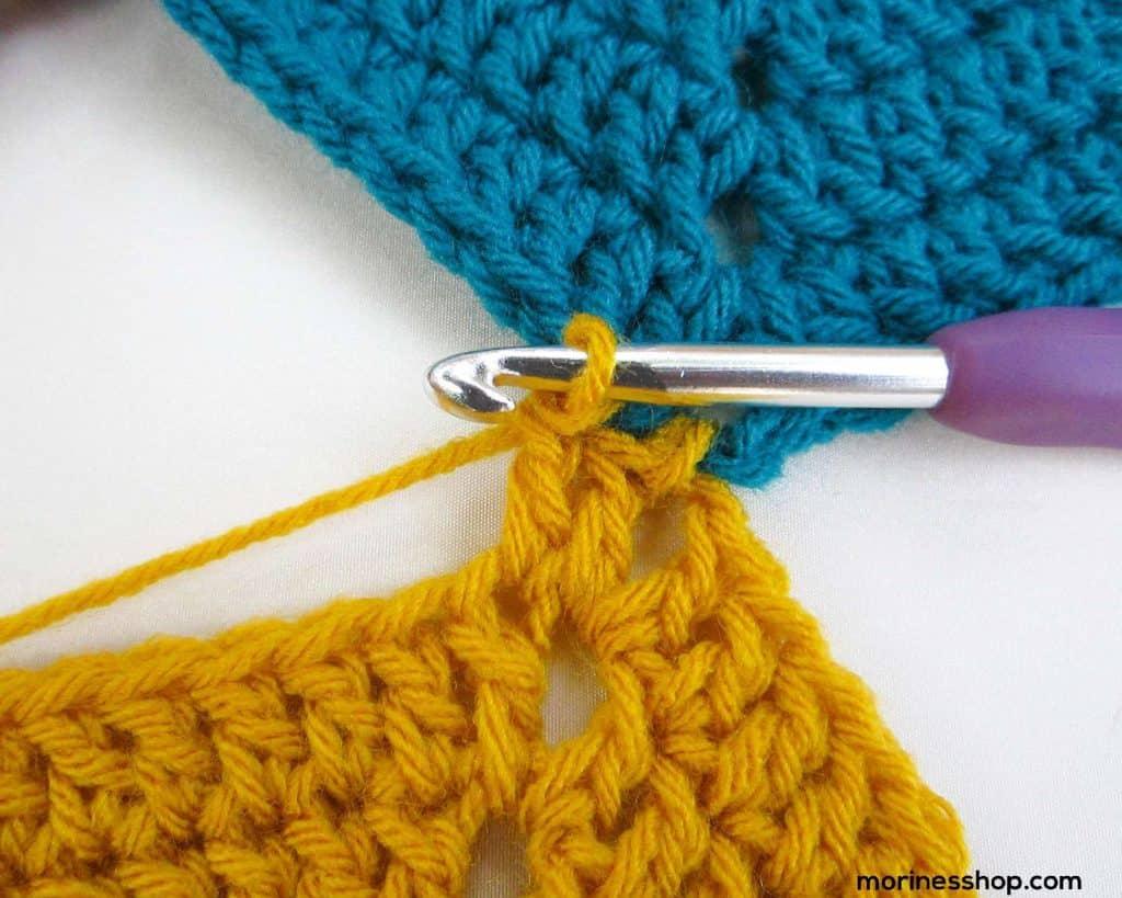 Dc in next stitch