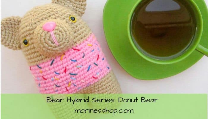 Donut Bear is a free crochet amigurumi pattern modification. It contains all the details needed to transform the original pattern linked.