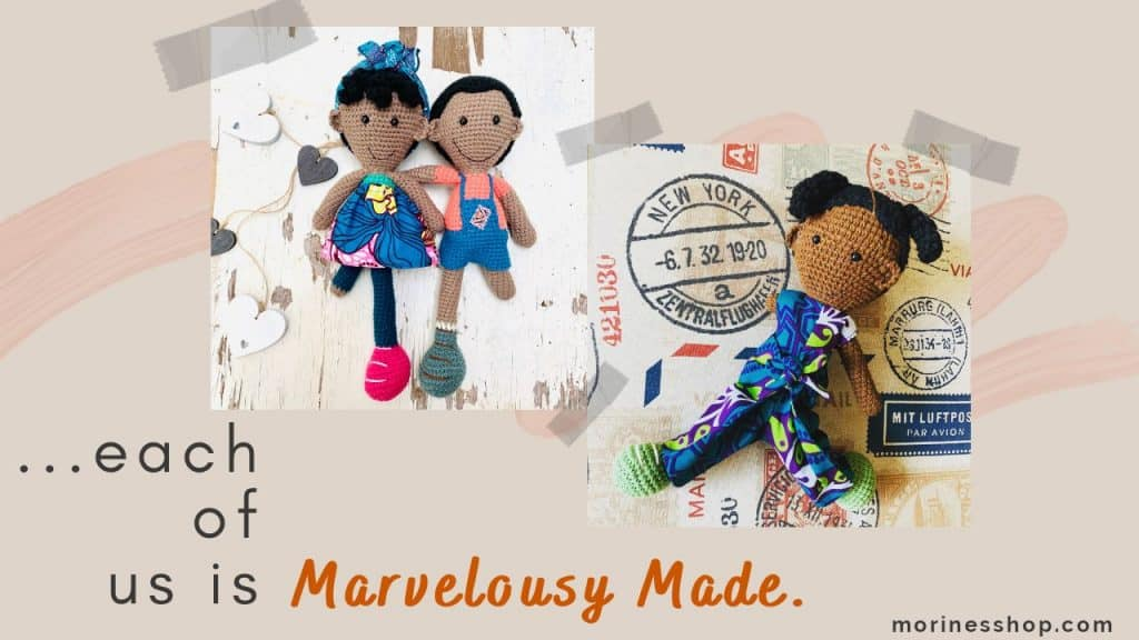 Range of Marvelously Made dolls by Umba Creations.