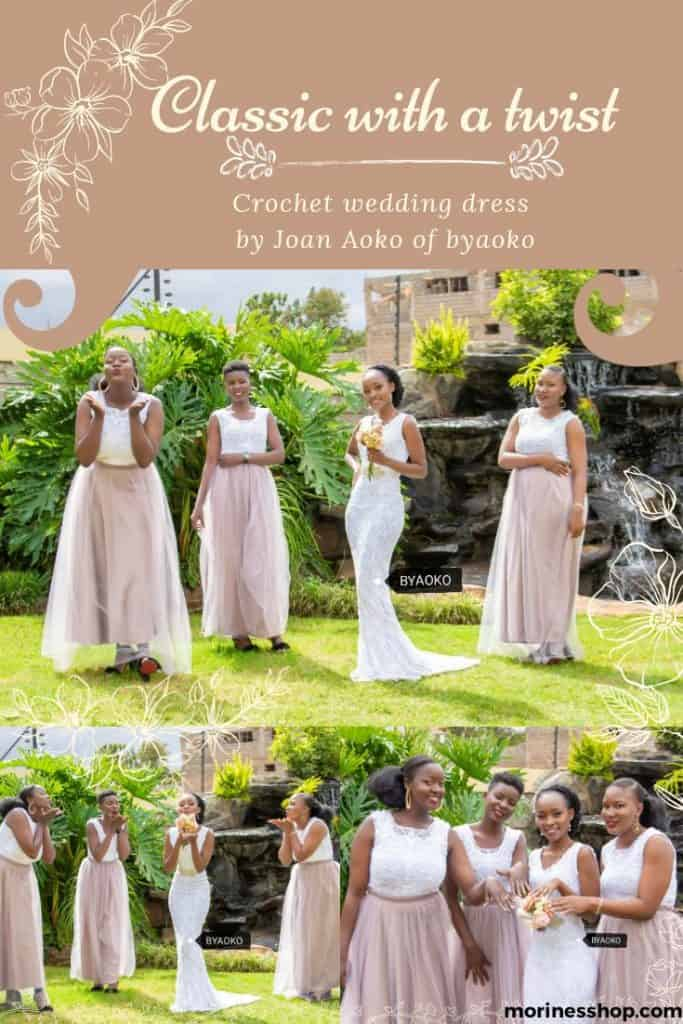 Crochet wedding dress by Joan Aoko of Byaoko