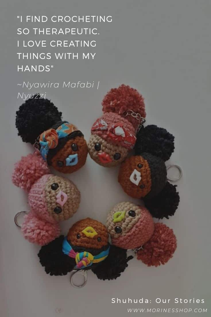 Quote by Nyawira of Nyuzzi, a brand that specializes in crochet Black dolls and keychains that celebrate our beautiful African skin. #crochet#crochetdoll #crochetblackdolls#shuhuda#shuhuda_ourstories#nyuzzi
