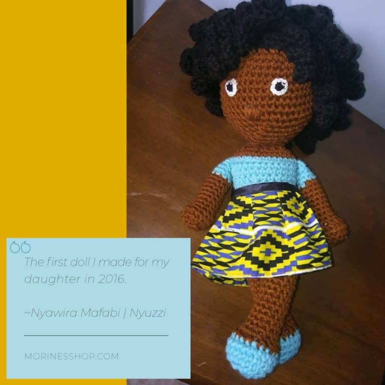 First doll made by Nyawira for her daughter