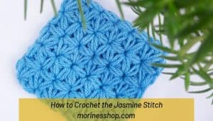 Ever wondered how to crochet the Jasmine Stitch? This detailed crochet tutorial from Morine's Shop is definitely the way to go. #CrochetTutorial #JasmineStitch #CrochetStitches #ElegantCrochet #MorinesShop