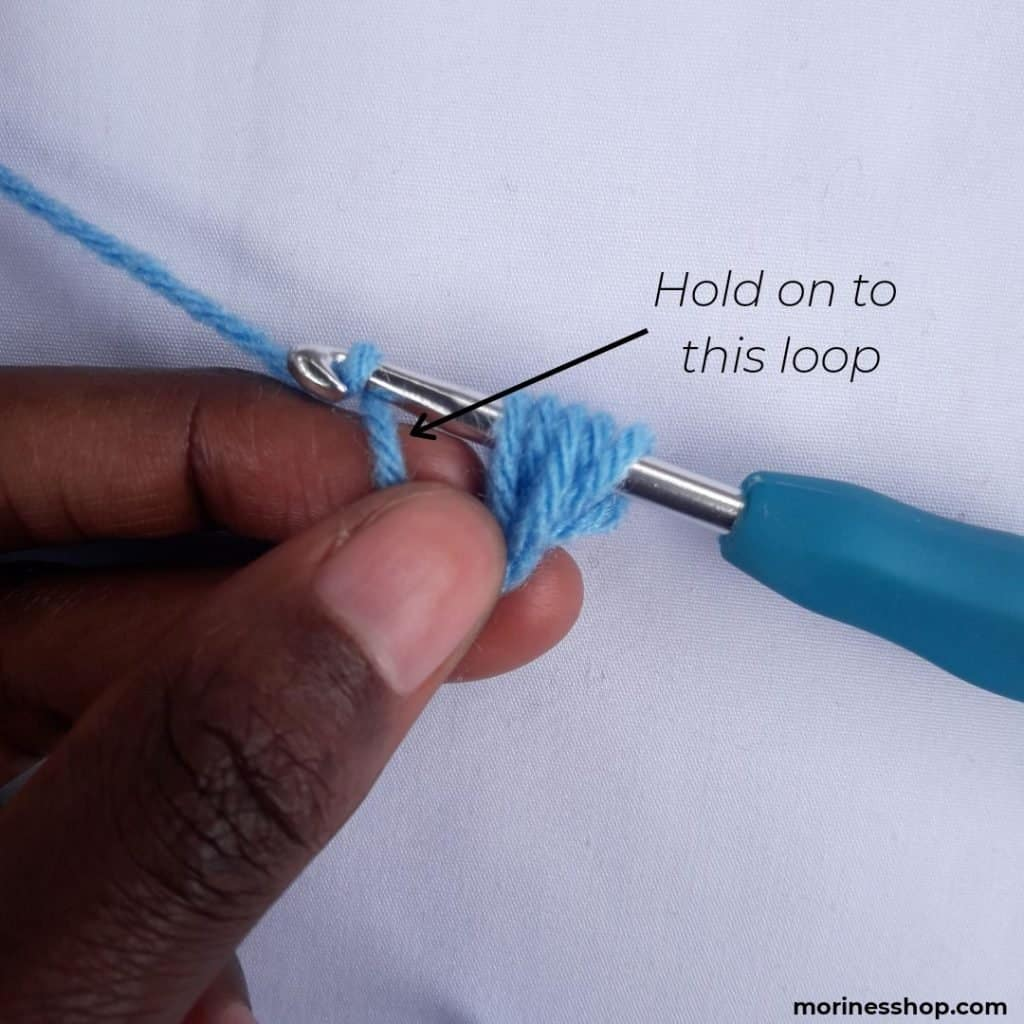 Hold on to the loop-How to Crochet the Jasmine Stitch