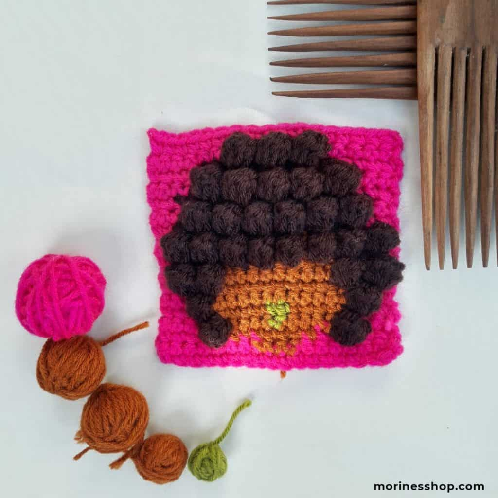 The Afro Square- A Free Crochet Pattern