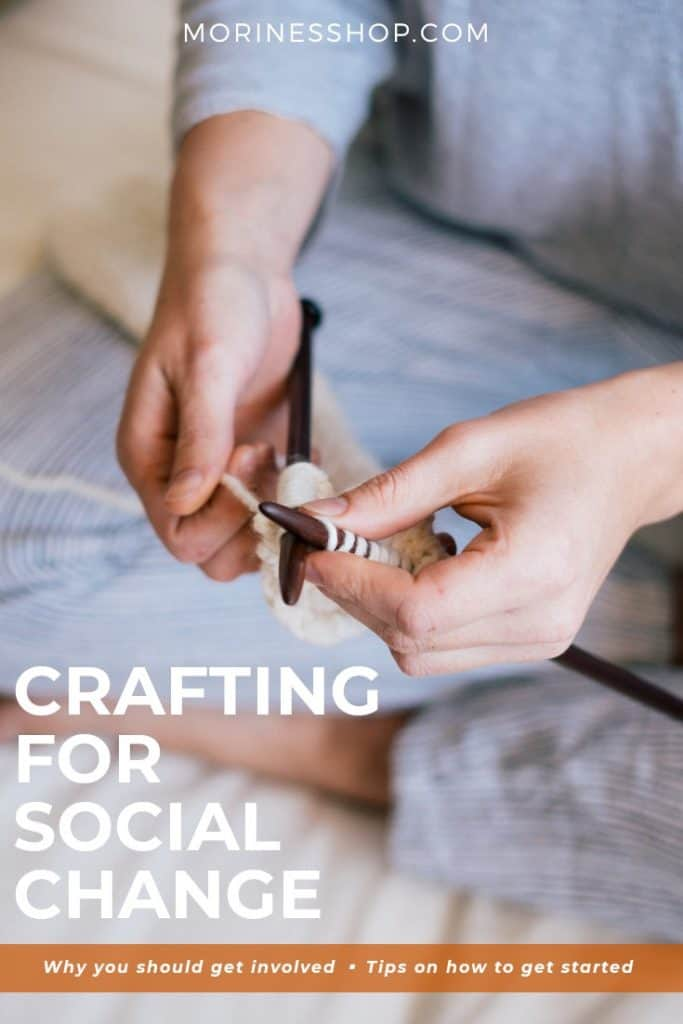 This is an article on crafting for social change, what it is, why you should get involved and 5 simple tips to get you started. #Craftivism #CreateChange #SocialChange #DoSomething #GiveBack
