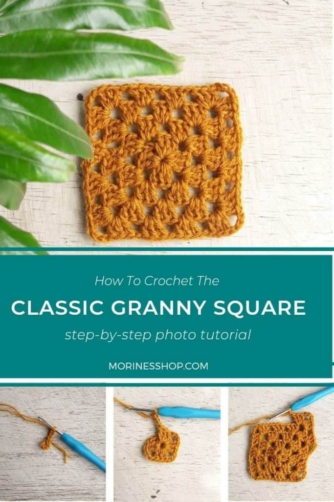 Learn how to crochet the classic granny square with these easy to follow instructions with picture tutorials. For all yarn and hook sizes! #GrannySquare #CrochetGrannySquare #ClassicGrannySquare #GrannySquareTutorial #GrannySquarePattern