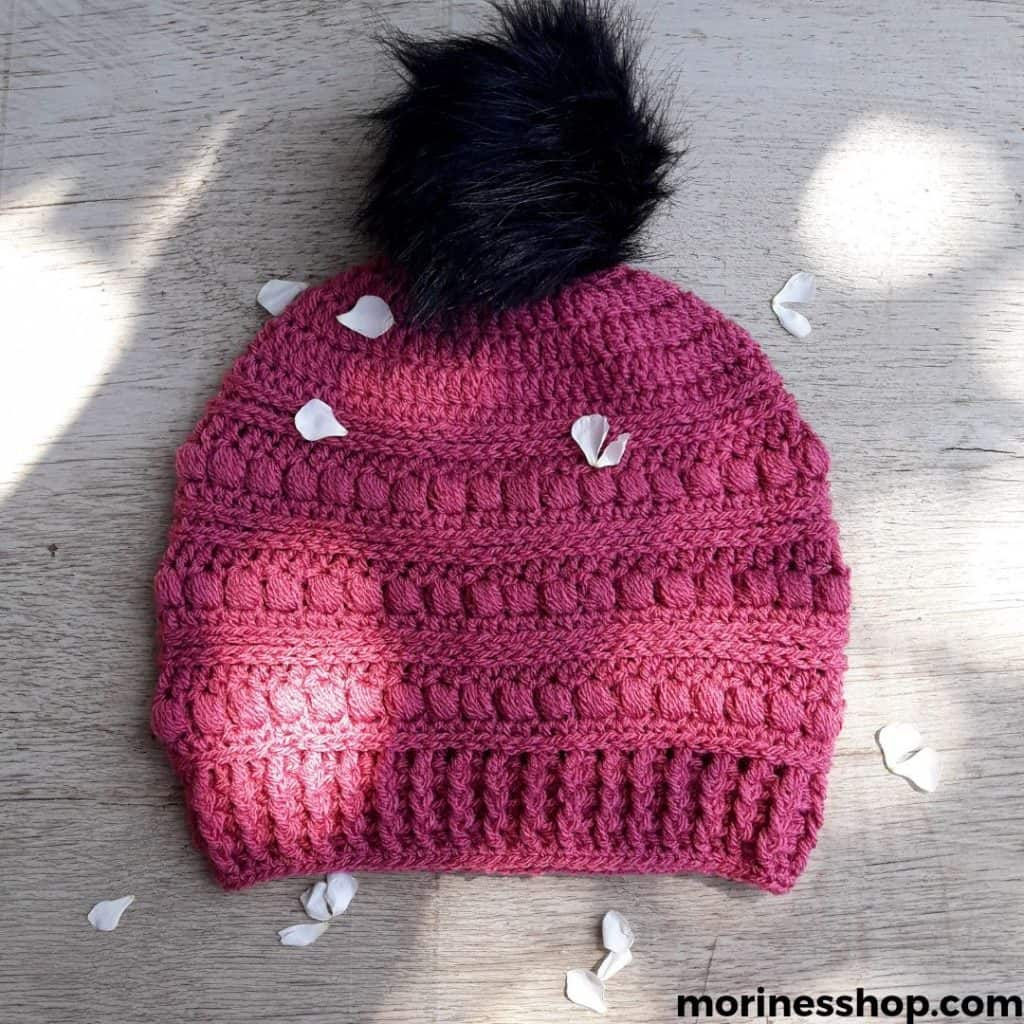 The Peas in a Pod Beanie is a free crochet hat pattern that uses a combination of simple crochet stitches to produce a beautiful textured look. #crochethat #crochethatpattern #freecrochetpattern #crochetbeanie #crochettexture