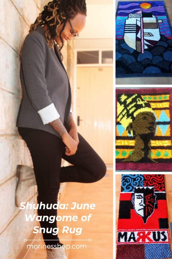 In the first Shuhuda article of 2021, meet June Wangome of Snug Rug as she tells us how she turned her passion into a business #Shuhuda_OurStories #Decor #OutdoorRug #DoorMat #Mat