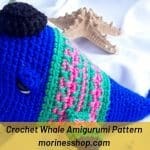 Nyangumi is an adorable free crochet whale amigurumi pattern that would make a perfect gift for any deep sea lovers in your life! #CrochetWhale #WhaleAmigurumi #CrochetAnimals #AmigurumiWhale #CrochetWhalePattern