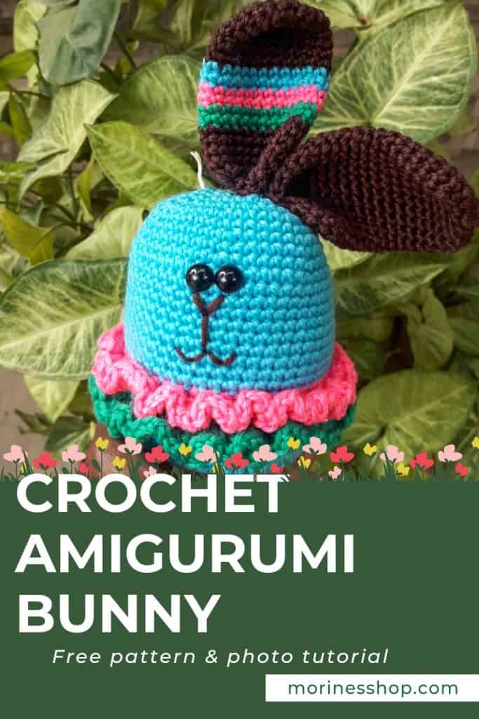Kavaluku is an adorable crochet bunny amigurumi pattern. Apart from being great for Easter, it would make the most adorable spring baby gift #CrochetBunny #AmigurumiBunny #EasterCrochet #SpringCrochet #CrochetRabbit