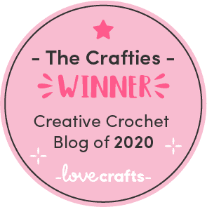 The Crafties Winner of Creative Crochet Blog of 2020