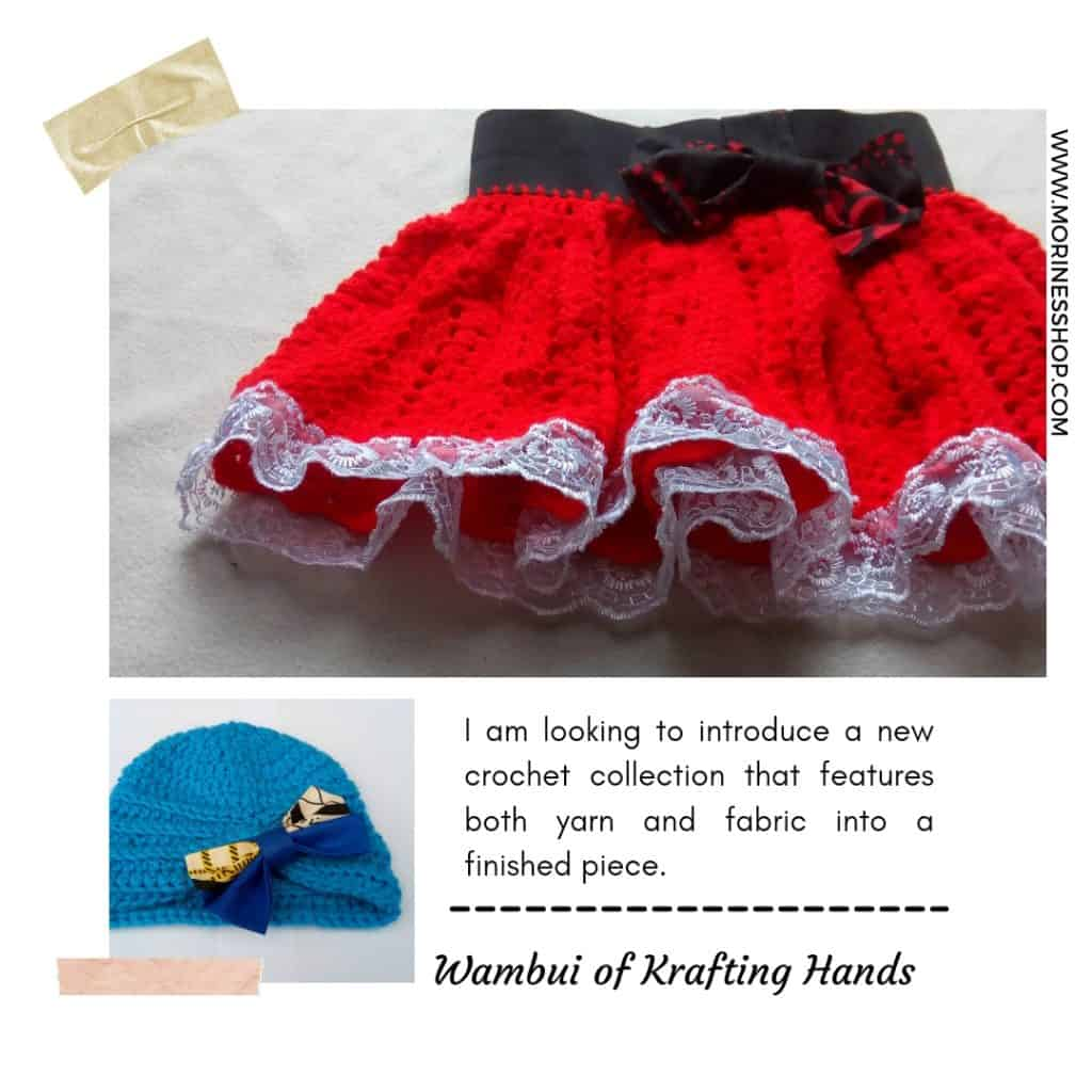 Fabric and crochet combinations