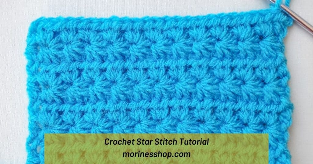 A complete guide to the crochet star stitch. Includes a detailed step-by-step tutorial along with tips, common terms and FAQs answered #CrochetStarStitch #StarStitch #CrochetStitches #BeginnerCrochet #CrochetBasics