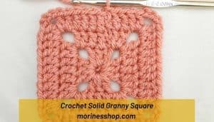 Learn how to crochet the solid granny square with this detailed step-by-step photo tutorial perfect for beginners and experienced crocheters #GrannySquare #CrochetGrannySquare #SolidGrannySquare #GrannySquareTutorial #GrannySquarePattern