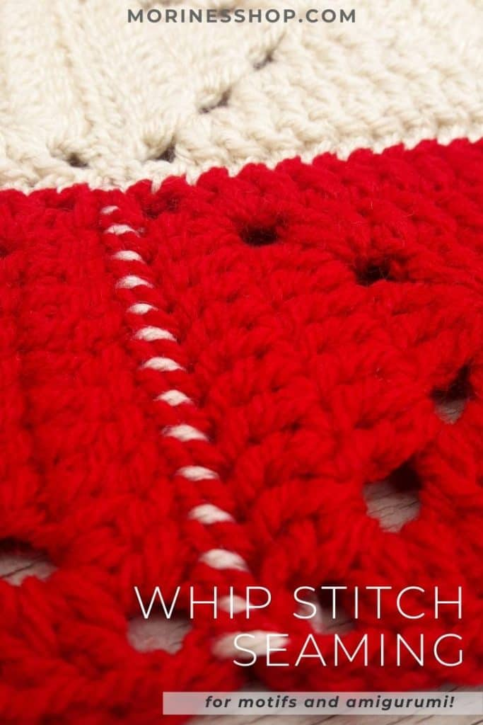 All you need to know about the whip stitch, including a step-by-step tutorial for using it to join your squares, motifs and amigurumi pieces! #HowToSeamCrochet #HowToJoinCrochet #CrochetJoin #CrochetSeam #CrochetWhipStitch