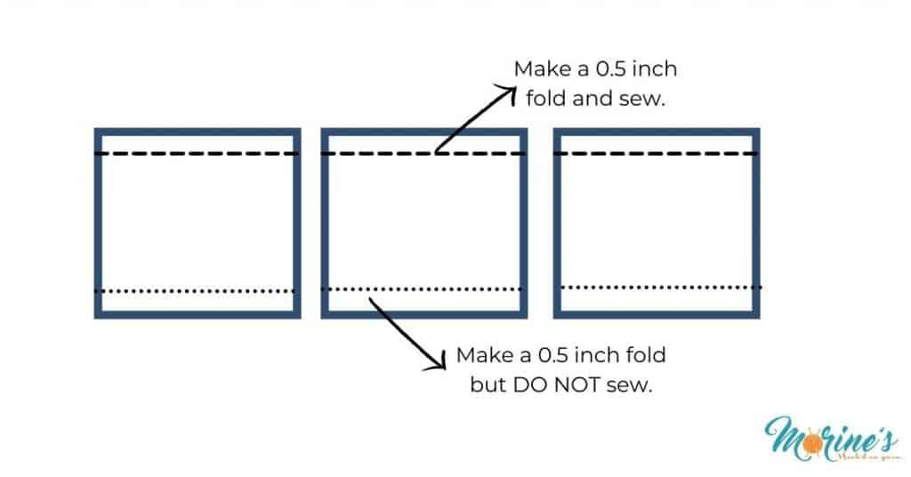 Folds on the pockets