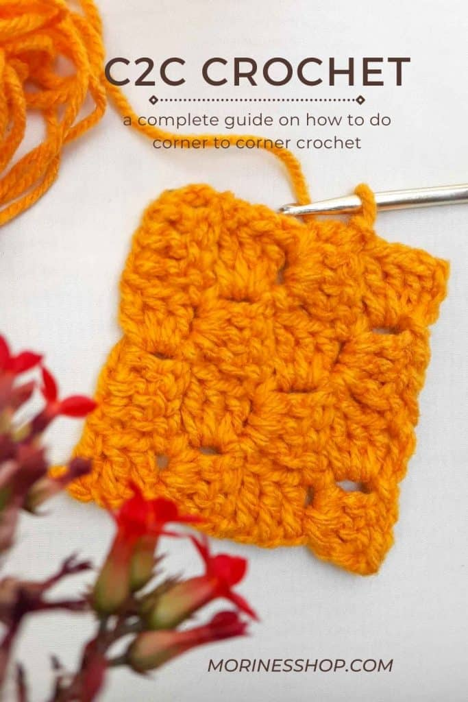 Learn all about c2c crochet (corner to corner) in this tutorial. From squares, triangles, rectangles, decrease, increase and colour changes! #C2CCrochet #C2C #CornerToCorner #CornertToCornerCrochet #CrochetTutorial