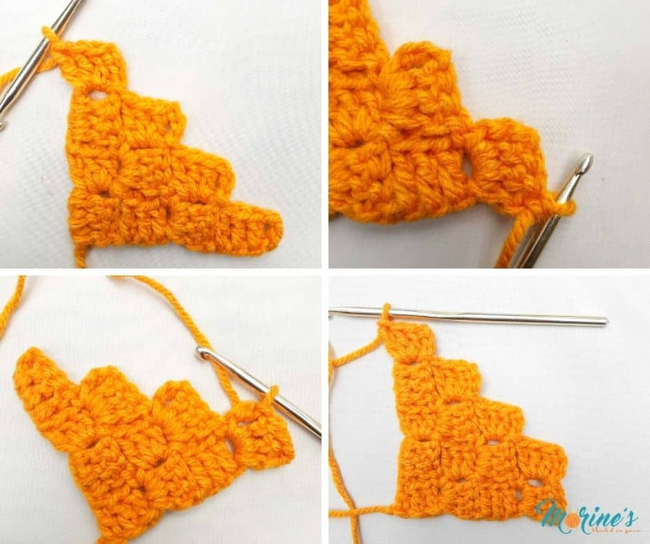 How to c2c crochet a rectangle
