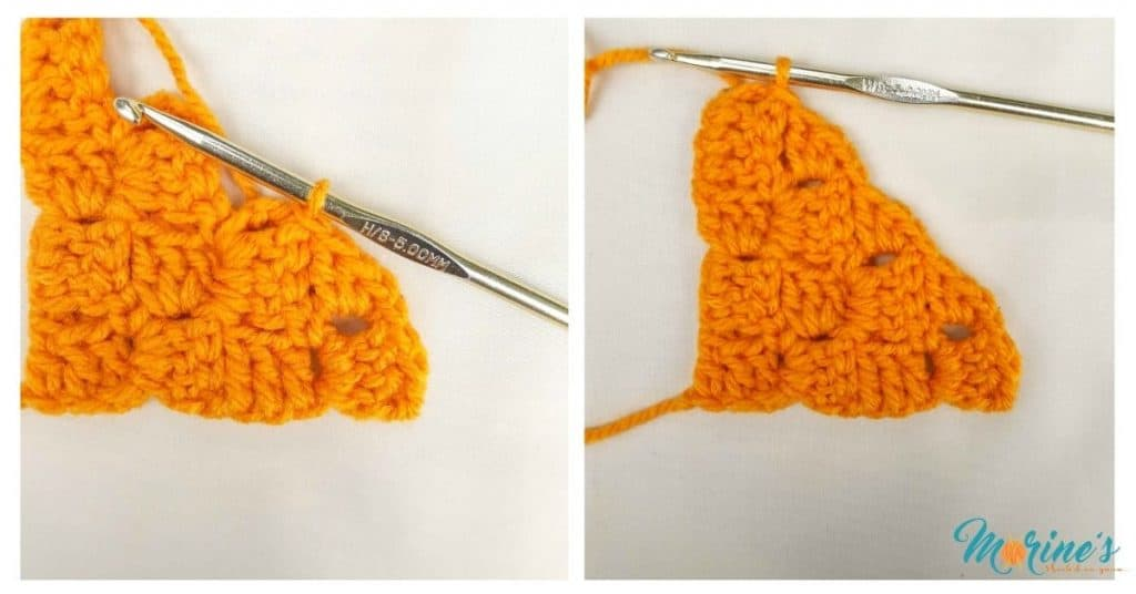 How to c2c a straight edged triangle